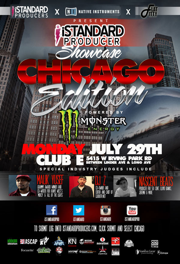 Chicago iStandard Producer Showcase - Click the flier to view event info