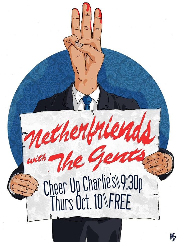10.10.13: Netherfriends performing at Cheer Up Charlie's - Austin, TX -- Click for info