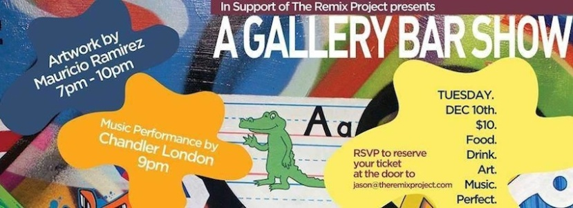 12.10.13: Chandler London performing at Gallery Bar - In Support Of The Remix Project