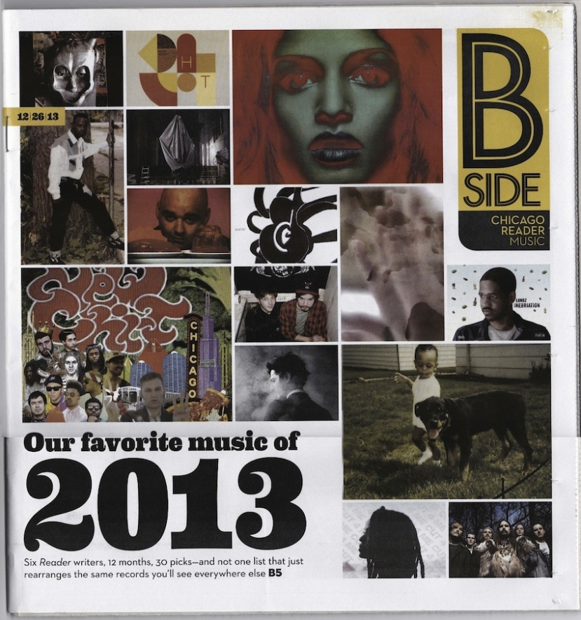Chicago Reader: Our Favorite Music Of 2013