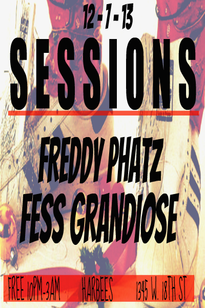 12.07.13: Fess Grandiose Spinning at Harbee Liquors & Tavern - Chicago, IL.