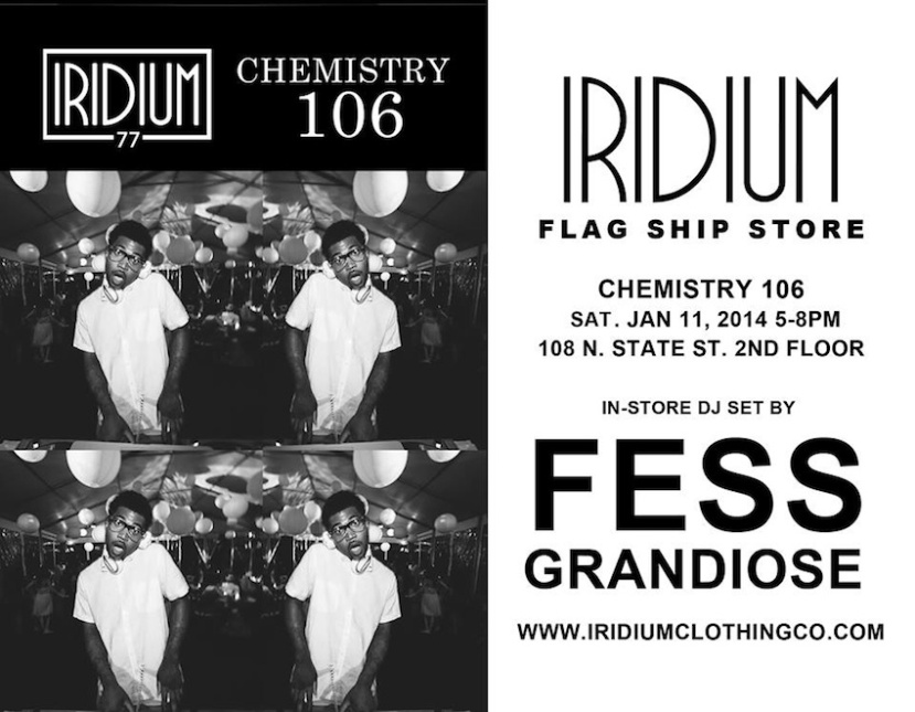 01.11.14: Fess Grandiose Spinning at Iridium Clothing Co. - Chicago, IL.